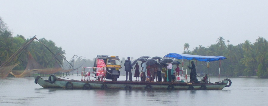 Watch Locals Commute in backwaters
