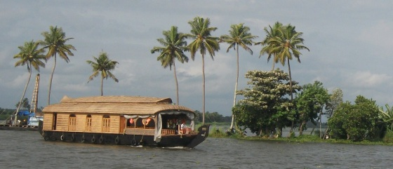 Houseboat in Kerala Backwaters
