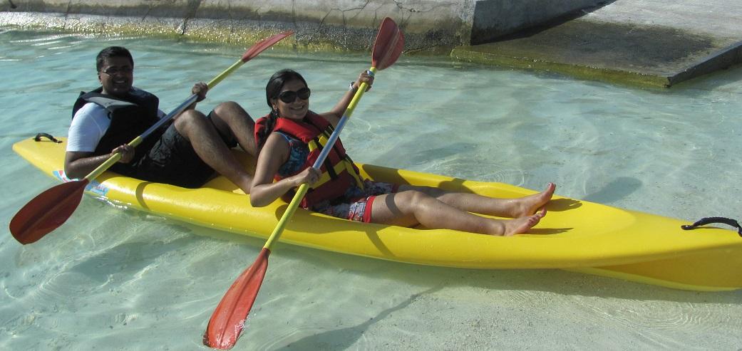 Sea Kayaking in Kurumba Village Maldives