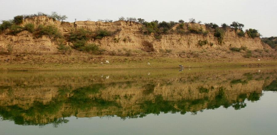 Chambal Ravines overlooking the Chambal River